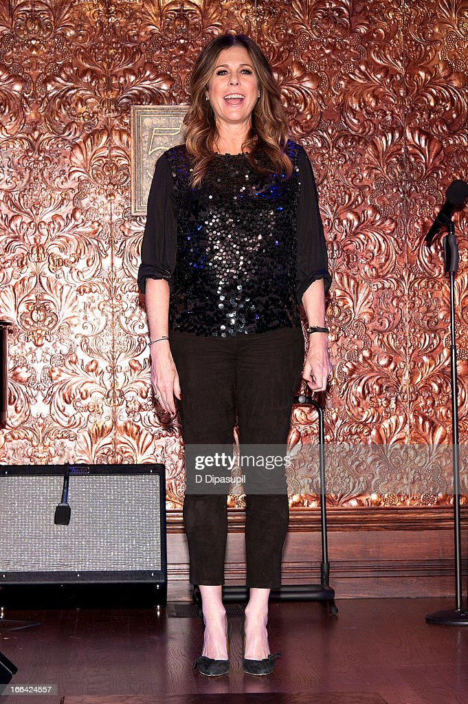<a gi-track='captionPersonalityLinkClicked' href=/galleries/search?phrase=Rita+Wilson&family=editorial&specificpeople=202642 ng-click='$event.stopPropagation()'>Rita Wilson</a> attends the Press Preview at 54 Below on April 12, 2013 in New York City.