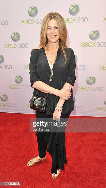 Rita wilson attends the world premiere of Kinect for Xbox 360 in LA where Cirque du Soleil performed an exclusive show at Galen Center on June 13...