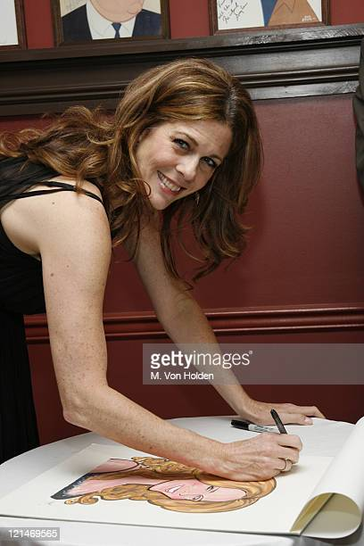 Rita Wilson during Sardi's Restaurant honors Rita Wilson's Broadway Debut with a Personal Caricature New York August 1 2006 at Sardi's in New York...
