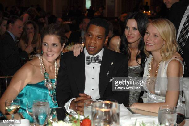 Rita Wilson Jay Z Courteney Cox Arquette and Gwyneth Paltrow attend Unforgettable Evening Benefiting The Entertainment Industry Foundation at Beverly...