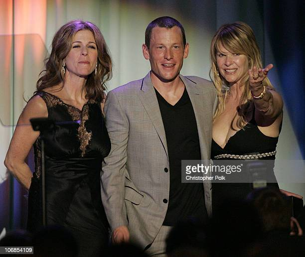 Rita Wilson Lance Armstrong recipient of the 2005 Courage Award and Kate Capshaw