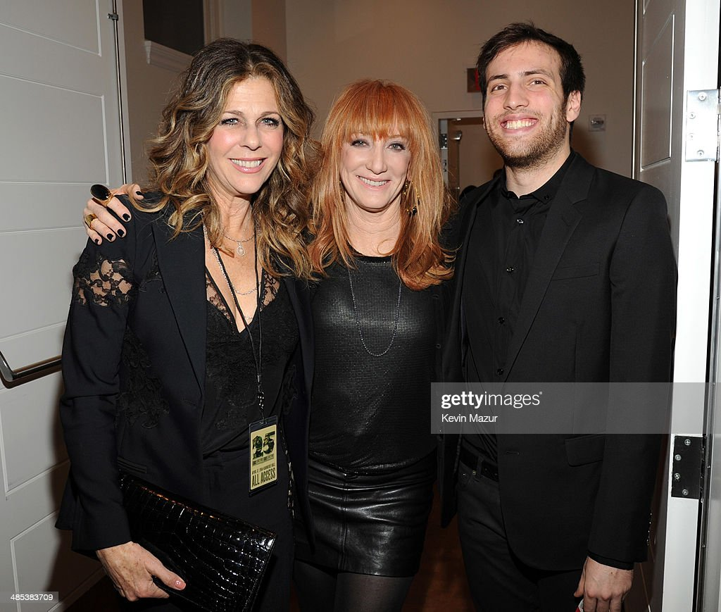 <a gi-track='captionPersonalityLinkClicked' href=/galleries/search?phrase=Rita+Wilson&family=editorial&specificpeople=202642 ng-click='$event.stopPropagation()'>Rita Wilson</a>, <a gi-track='captionPersonalityLinkClicked' href=/galleries/search?phrase=Patti+Scialfa&family=editorial&specificpeople=228282 ng-click='$event.stopPropagation()'>Patti Scialfa</a> and Evan Springsteen backstage during The 2014 Revlon Concert For The Rainforest Fund at Carnegie Hall on April 17, 2014 in New York City.