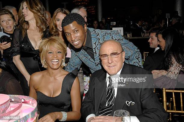 Rita Wilson Whitney Houston Kenny 'Babyface' Edmonds and Clive Davis