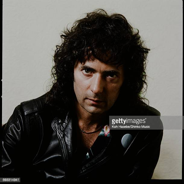 Ritchie Blackmore getting interviewed in a room Tokyo May 1985
