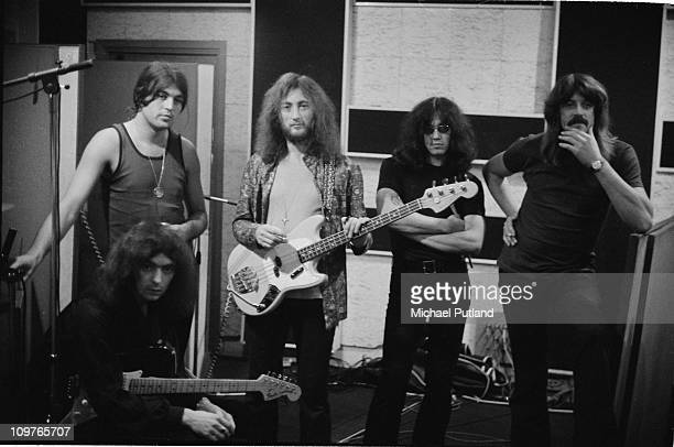 Ritchie Blackmore Ian Gillan Roger Glover Ian Paice and Jon Lord of British rock band Deep Purple recording in London England 0n 29th September 1970
