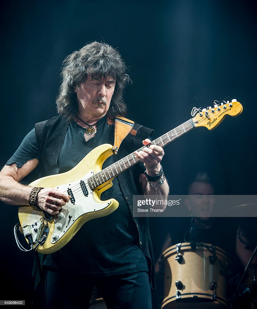 <a gi-track='captionPersonalityLinkClicked' href=/galleries/search?phrase=Ritchie+Blackmore&family=editorial&specificpeople=7349787 ng-click='$event.stopPropagation()'>Ritchie Blackmore</a> of Rainbow performs at Genting Arena on June 25, 2016 in Birmingham, England.
