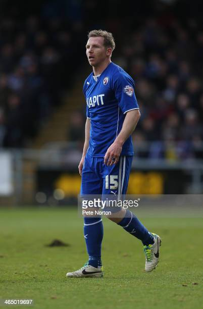 Ritchie Humphreys of Chesterfield in action during the Sky Bet League Two match between Northampton Town and Chesterfield at Sixfields Stadium on...
