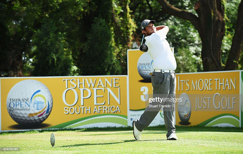 JC Ritchie of South Africa plays a shot during the final round of the Tshwane Open at Pretoria Country Club on February 14, 2016 in Pretoria, South Africa.