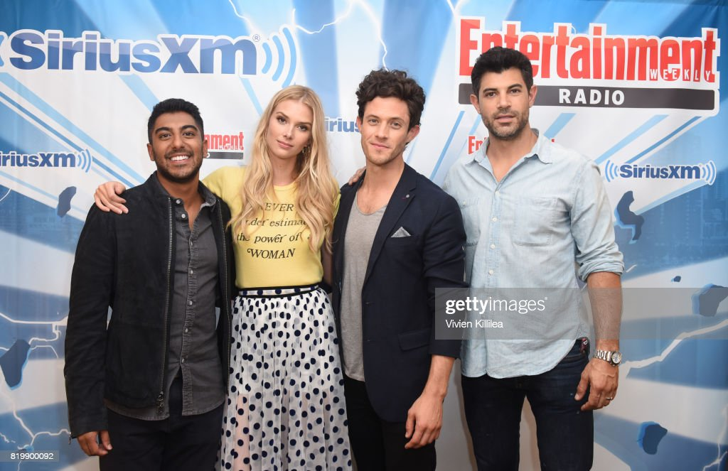 Ritesh Rajan, Emma Ishta, Kyle Harris and Damon Dayoub attend SiriusXM's Entertainment Weekly Radio Channel Broadcasts From Comic Con 2017 at Hard Rock Hotel San Diego on July 20, 2017 in San Diego, California.