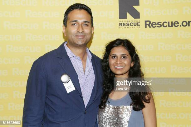 Rithesh Menon and Jinal Shah attend the Seventh Annual GenR Summer Party at the Tribeca Rooftop on July 18 2017 in New York City