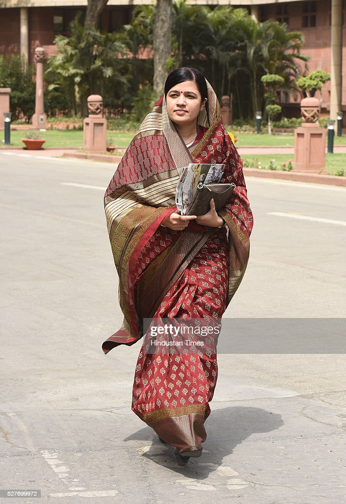 Riti Pathak, Member of parliament, Sidhi MP after attending BJP parliamentary Board Meeting at Parliament Library on May 3, 2016 in New Delhi, India. With the BJP mounting an offensive against Congress vice-president on the AgustaWestland VVIP chopper bribery case, Rahul Gandhi on Wednesday said he is happy to be targeted.