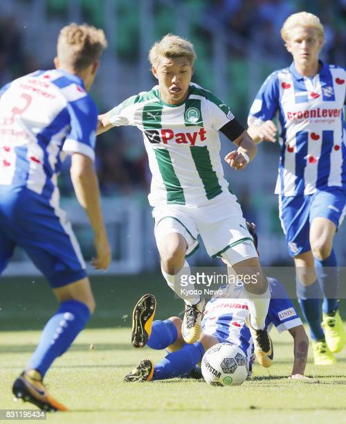 Ritsu Doan makes his FC Groningen debut in a home game against Heerenveen on Aug 13 2017 The teams drew 33 ==Kyodo
