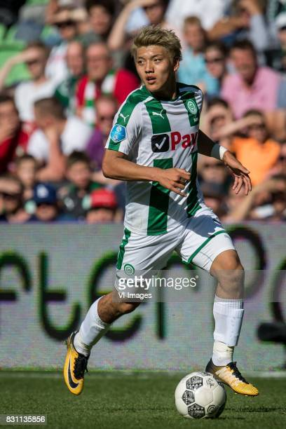 Ritsu Doan of FC Groningen during the Dutch Eredivisie match between FC Groningen and sc Heerenveen at Noordlease stadium on August 13 2017 in...