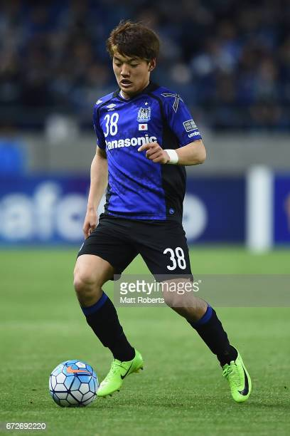 Ritsu Doan of Gamba Osaka controls the ball during the AFC Champions League Group H match between Gamba Osaka v Adelaide United at Suita City...