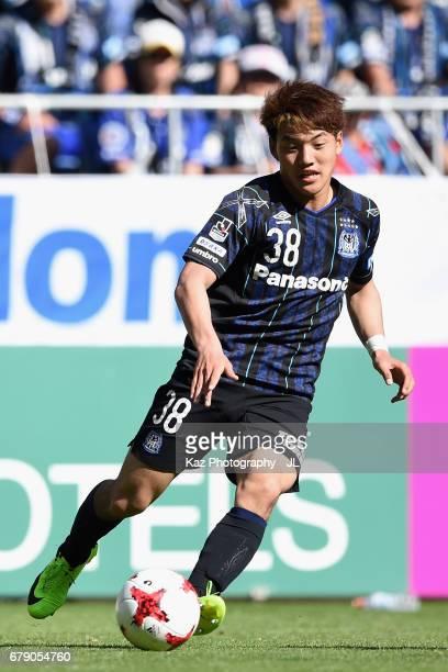 Ritsu Doan of Gamba Osaka in action during the JLeague J1 match between Gamba Osaka and Shimizu SPulse at Suita City Football Stadium on May 5 2017...