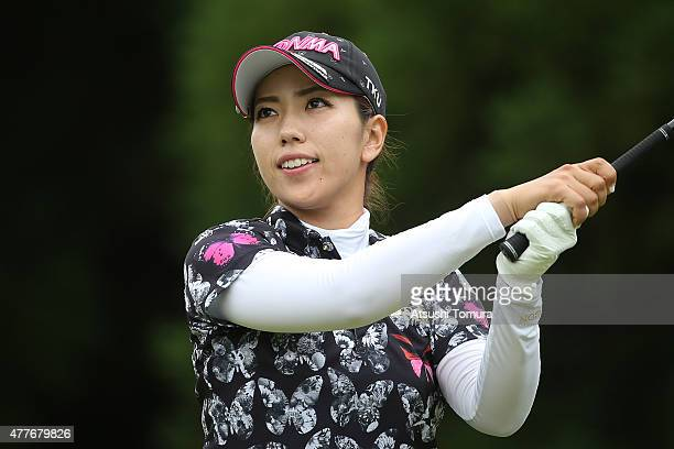 Ritsuko Ryu of Japan hits her tee shot on the 16th hole during the first round of the Nichirei Ladies at the Sodegaura Country Club Shinsode Course...