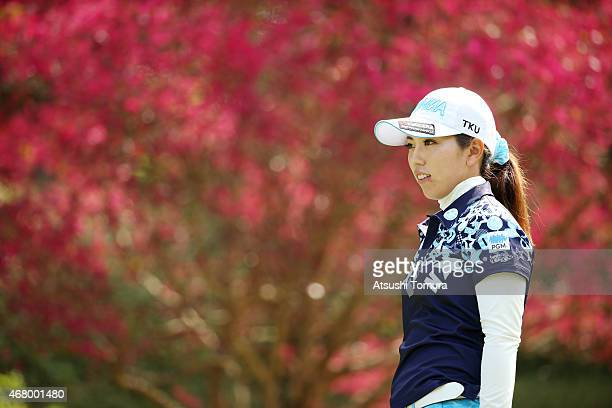Ritsuko Ryu of Japan looks on during the AXA Ladies Golf Tournament at the UMK Country Club on March 29 2015 in Miyazaki Japan