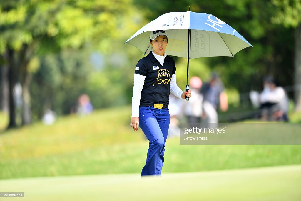 <a gi-track='captionPersonalityLinkClicked' href=/galleries/search?phrase=Ritsuko+Ryu&family=editorial&specificpeople=7313575 ng-click='$event.stopPropagation()'>Ritsuko Ryu</a> of Japan looks on during the firstround of the Resorttrust Ladies at the Grandee Naruto Golf Club XIV on May 27, 2016 in Naruto, Japan.