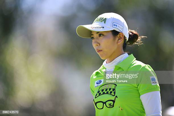 Ritsuko Ryu of Japan looks on during the third round of the Nitori Ladies 2016 at the Otaru Country Club on August 27 2016 in Otaru Japan