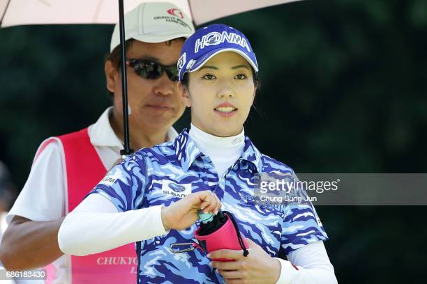 Ritsuko Ryu of Japan on the 5th hole during the final round of the Chukyo Television Bridgestone Ladies Open at the Chukyo Golf Club Ishino Course on...