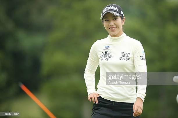 Ritsuko Ryu of Japan smiles during the second round of the Miyagi TV Cup Dunlop Ladies Open 2016 at the Rifu Golf Club on September 24 2016 in Rifu...