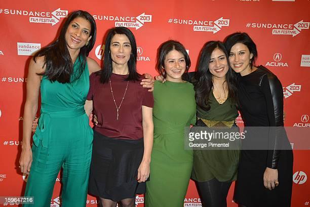 Ritu Singh Pande Hiam Abbass Alia Shawkat Nadine Malouf and Cherien Dabis attend the 'May In The Summer' premiere during the 2013 Sundance Film...