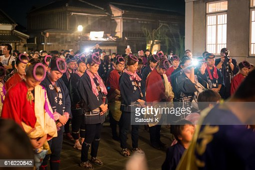 Ritual for returning parade float - Sawara Autumn Festival : Photo