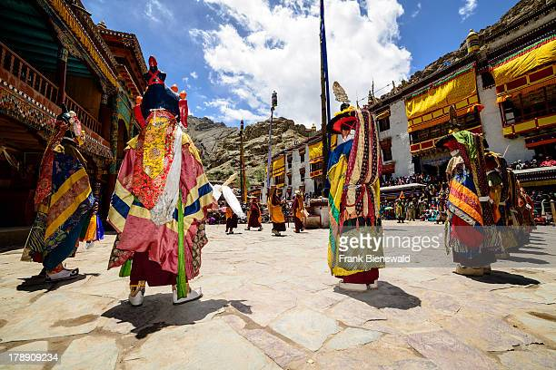 LADAKH HEMIS JAMMU KASHMIR INDIA Ritual mask dances performed by monks and describing stories from the early days of Buddhism are the main attraction...