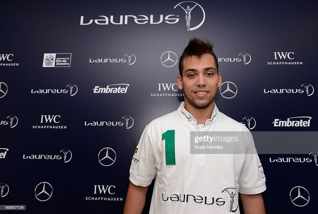 Riunner Alan Fonteles Oliveira poses during day 3 of the 2013 Laureus World Sports Awards on March 11, 2013 in Rio de Janeiro, Brazil.