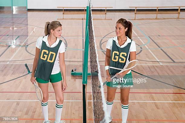 Rival badminton players