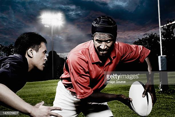 Rival rugby players