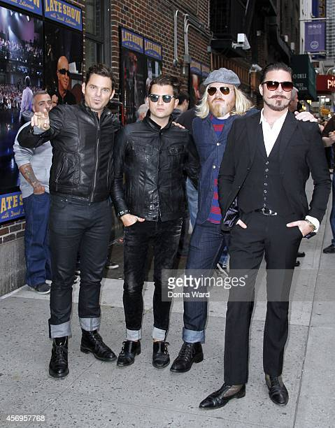 Rival Sons leave the 'Late Show with David Letterman' at Ed Sullivan Theater on October 9 2014 in New York City