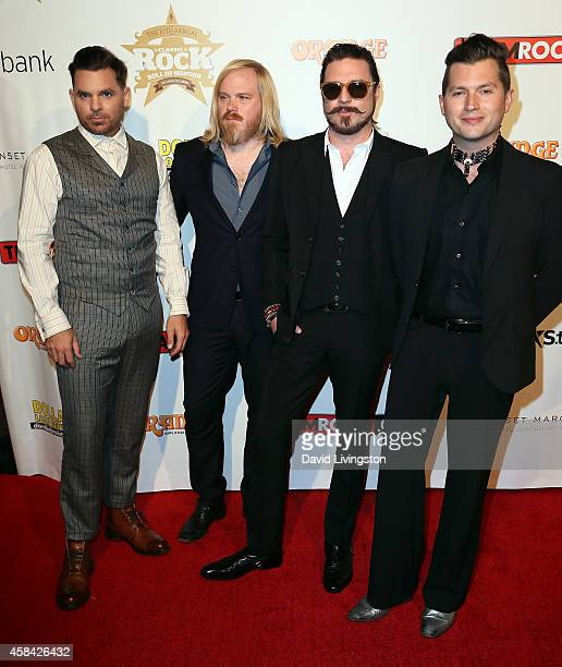 Rival Sons members attend the 10th Annual Classic Rock Awards at Avalon on November 4 2014 in Hollywood California