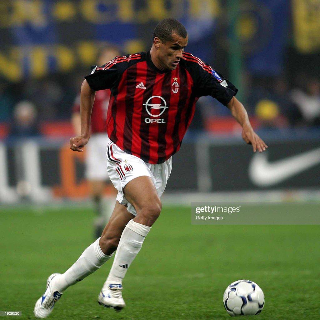 Rivaldo of AC Milan in action