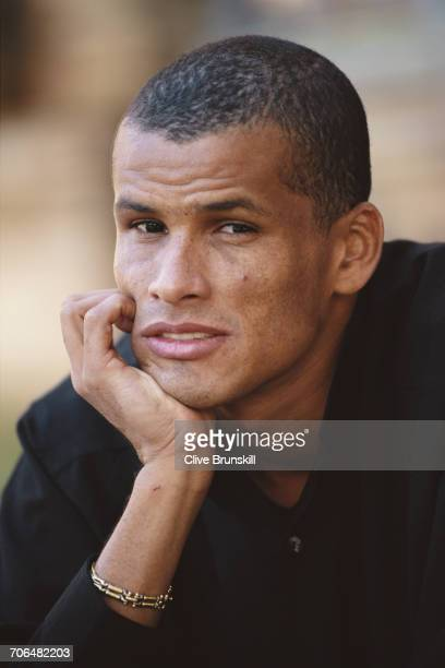 Rivaldo of Brazil and FC Barcelona Football Club poses for a portrait for soft drinks manufacturer PepsiCola on 23 December 1999 in Seville Spain