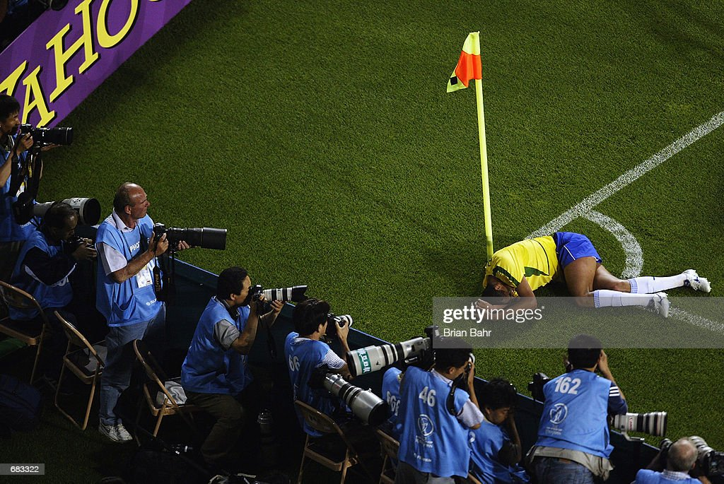 <a gi-track='captionPersonalityLinkClicked' href=/galleries/search?phrase=Rivaldo&family=editorial&specificpeople=208828 ng-click='$event.stopPropagation()'>Rivaldo</a> of Brazil lies on the ground after being struck by the ball during the Group C match against Turkey at the World Cup Group Stage played at the Ulsan-Munsu World Cup Stadium, Ulsan, South Korea on June 3, 2002. Brazil won the match 2-1.