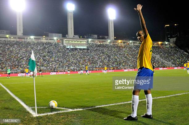 Rivaldo of Brazilian Team in action during a match between Palmeiras and Brazilian team as part of the farewell match of former goalkeeper Marcos at...