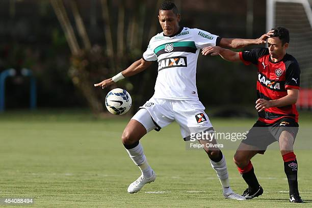 Rivaldo of Figueirense battles for the ball during the match between Vitoria and Figueirense as part of Brasileirao Series A 2014 at Estadio Manoel...