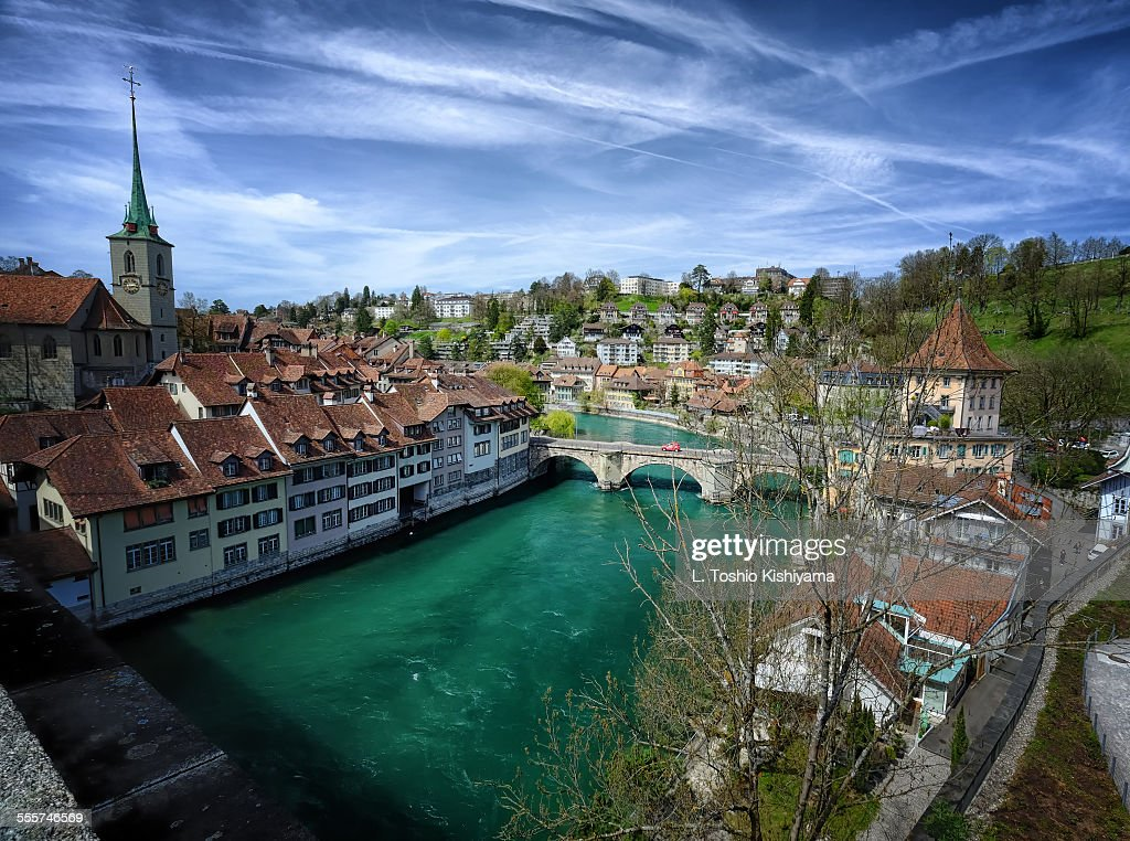 River Aare running through Bern, Switzerland
