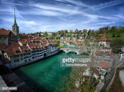 River Aare running through Bern, Switzerland