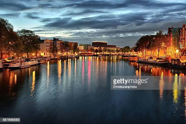 River Amstel at dawn