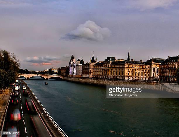 River and bridge in Paris