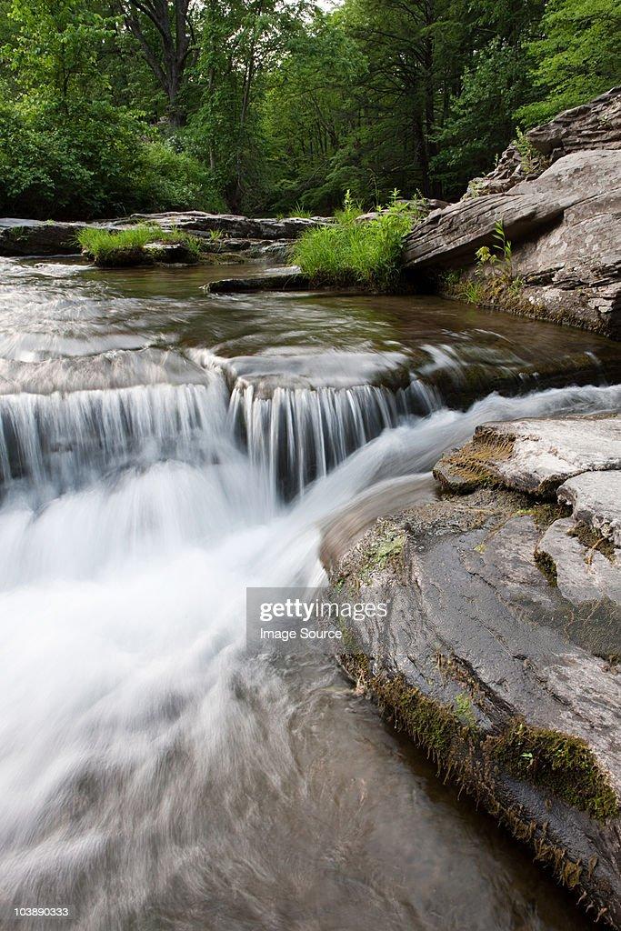 River and rocks, rural scene