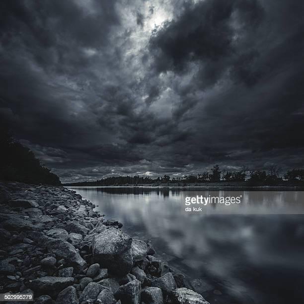 River at storm