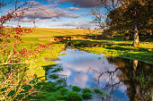 The River Blyth gently meanders through farmland in Northumberland