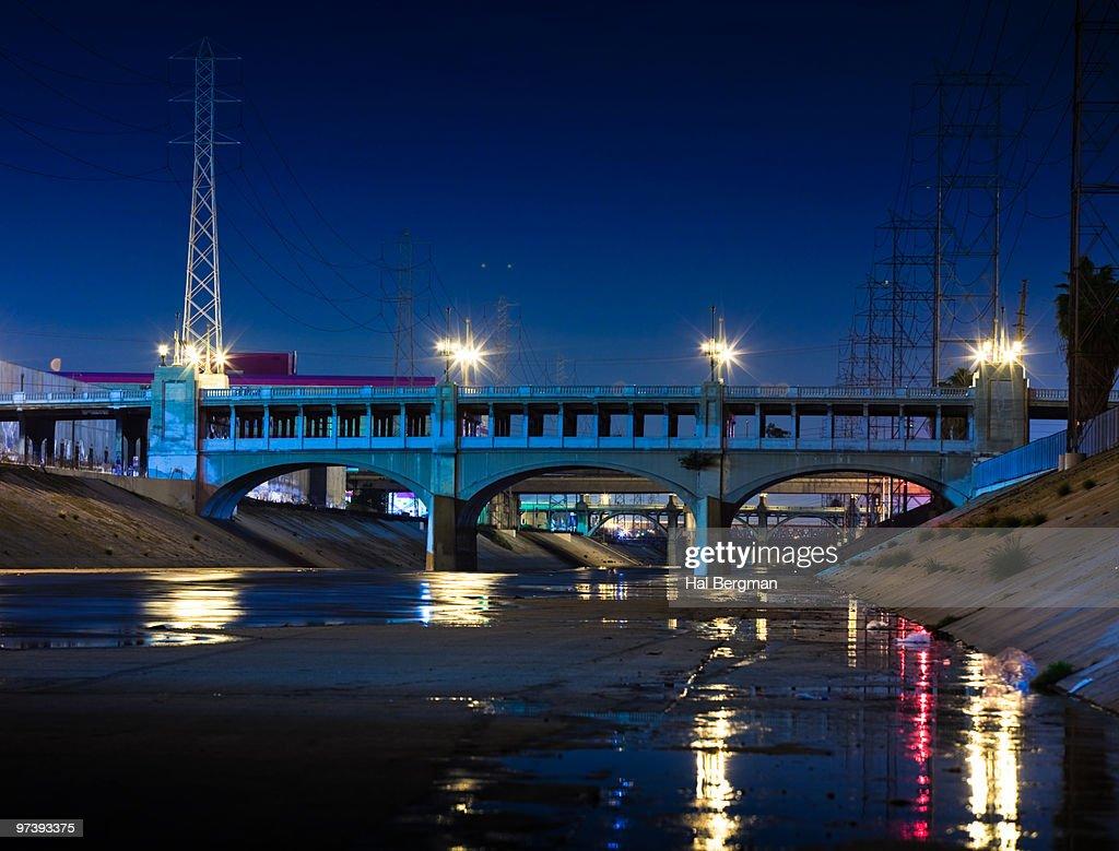 LA River Bridges : Stock Photo