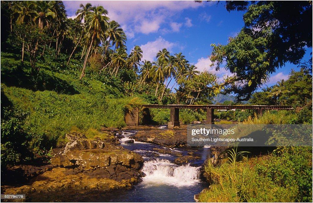 River Cascades, The Island of Upolu, Western Samoa.