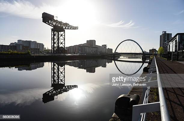River Clyde reflections, Glasgow, Scotland