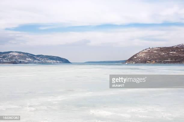 River Danube in winter season