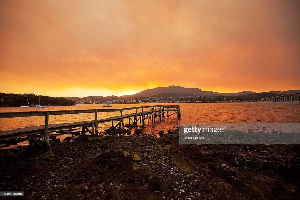 River Derwent Hobart : Stock-Foto